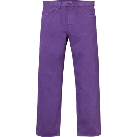 Washed Regular Jeans (Purple)