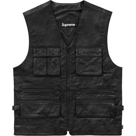 Leather Utility Vest (Black)