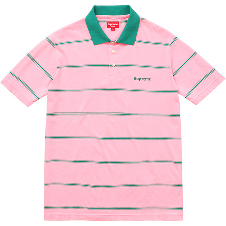 Striped Polo (Pink)