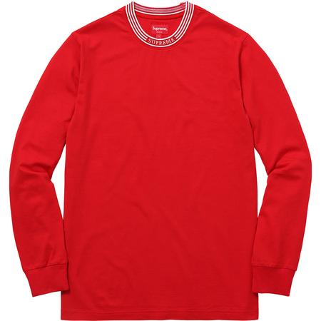 Rib Logo Stripe L/S Tee (Red)
