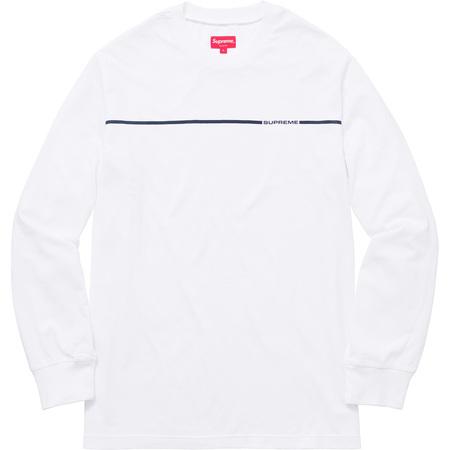 Chest Stripe L/S Top (White)