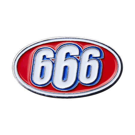 666 Oval Pin (Silver)