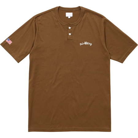 Supreme®/Playboy© S/S Henley Top (Brown)
