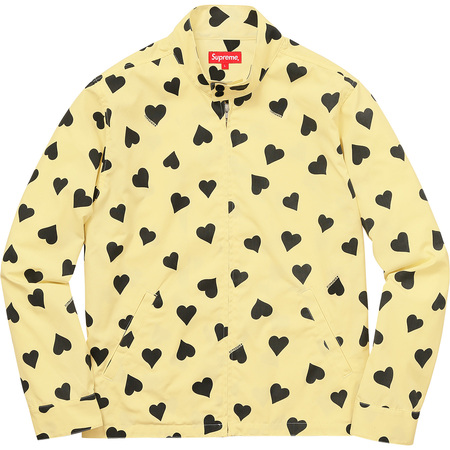 Hearts Harrington Jacket (Light Yellow)