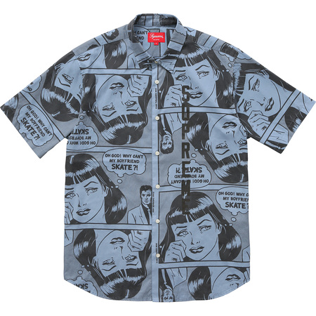 Supreme®/Thrasher® Boyfriend S/S Shirt (Dusty Blue)