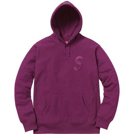 Tonal S Logo Hooded Sweatshirt (Plum)