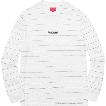 Logo Stripe L/S Top (White)