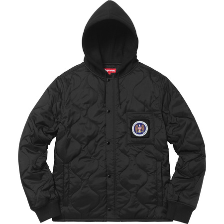 Quilted Liner Hooded Jacket (Black)