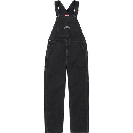 Washed Denim Overalls (Black)