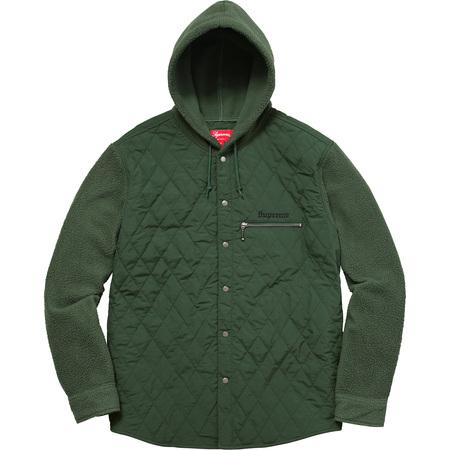 Hooded Fleece Nylon Shirt (Green)