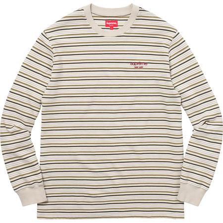 Raised Stripe L/S Top (Tan)