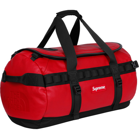 Supreme®/The North Face® Leather Base Camp Duffel (Red)