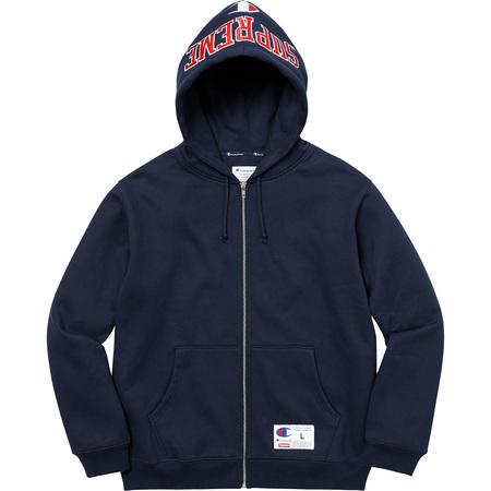 Supreme®/Champion® Arc Logo Zip Up Sweat (Navy)
