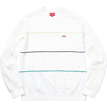 Multicolor Piping Pique Crewneck (White)