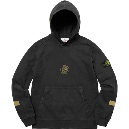 Supreme®/Stone Island® Hooded Sweatshirt (Black)