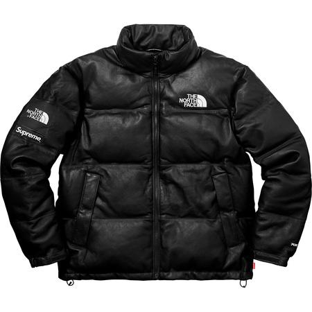 Supreme®/The North Face® Leather Nuptse Jacket (Black)