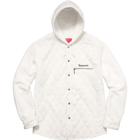 Hooded Fleece Nylon Shirt (White)