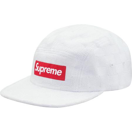 Checker Weave Camp Cap (White)