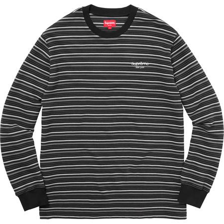 Raised Stripe L/S Top (Black)