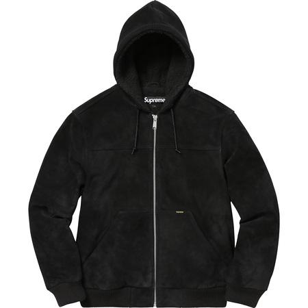 Hooded Suede Work Jacket (Black)