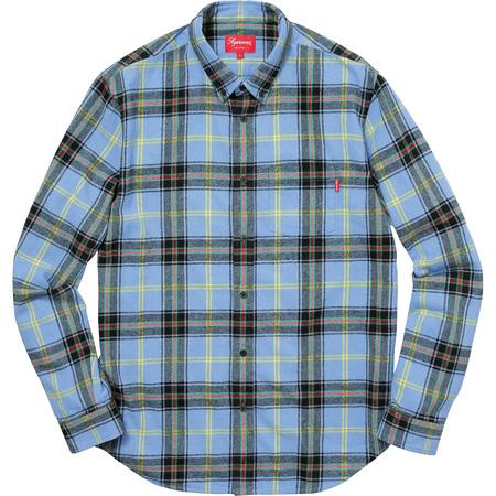 Tartan Flannel Shirt (Light Blue)