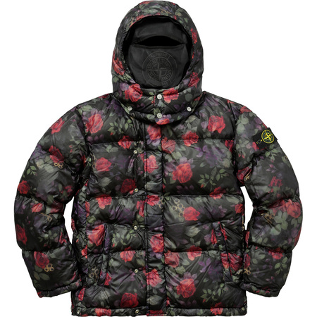 Supreme®/Stone Island® Lamy Cover Stampato Puffy Jacket (Black)