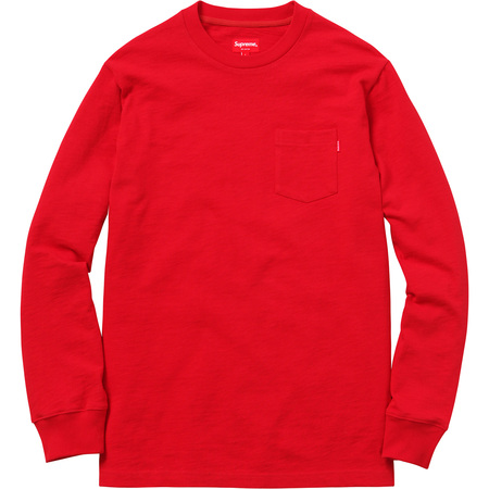L/S Pocket Tee (Red)