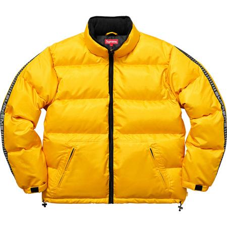 Reflective Sleeve Logo Puffy Jacket (Yellow)
