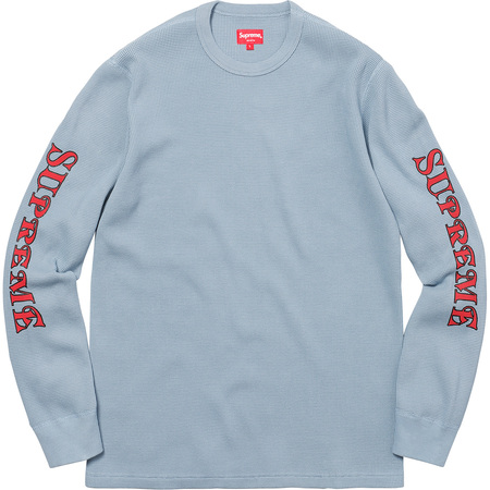 Sleeve Logo Waffle Thermal (Light Blue)