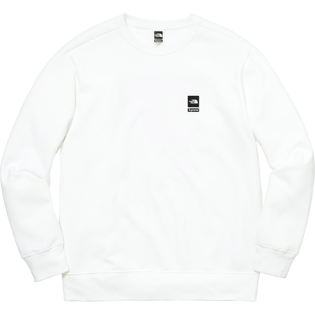 Supreme®/The North Face® Mountain Crewneck Sweatshirt (White)