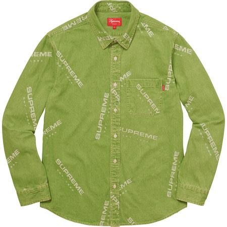 Jacquard Denim Shirt (Lime)