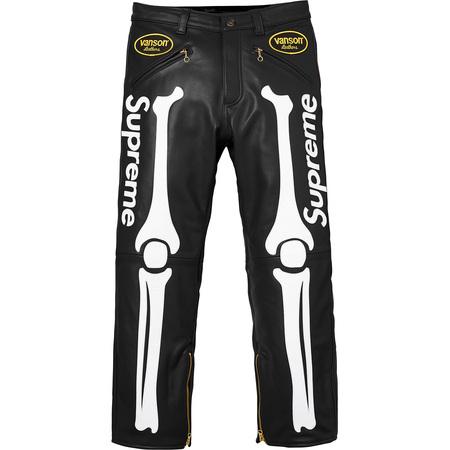 Supreme®/Vanson® Leather Bones Pant (Black)
