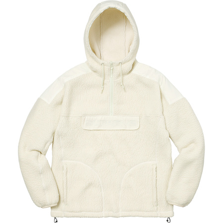 Polartec® Hooded Half Zip Pullover (Natural)