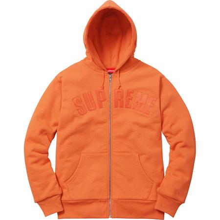 Arc Logo Thermal Zip Up Sweatshirt (Bright Orange)