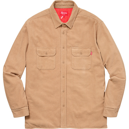 Corduroy Quilted Shirt (Tan)