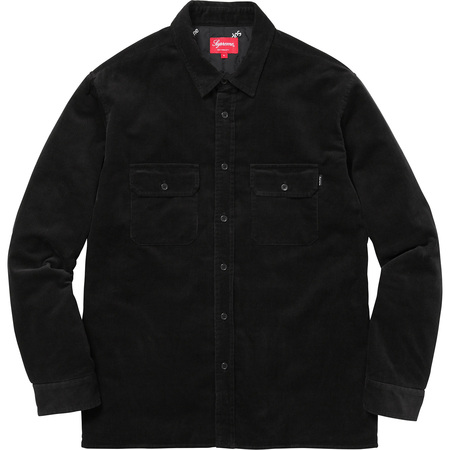 Corduroy Quilted Shirt (Black)