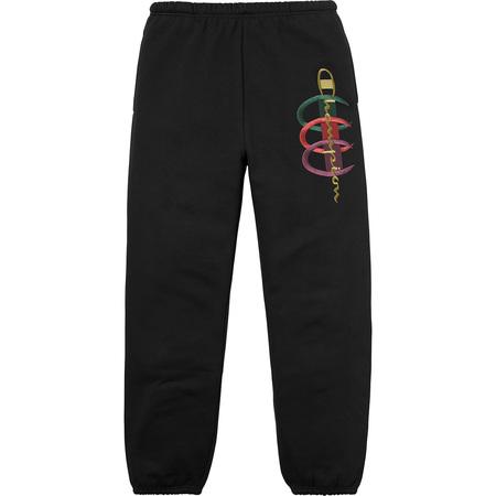 Supreme®/Champion® Stacked C Sweatpant (Black)