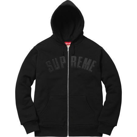 Arc Logo Thermal Zip Up Sweatshirt (Black)
