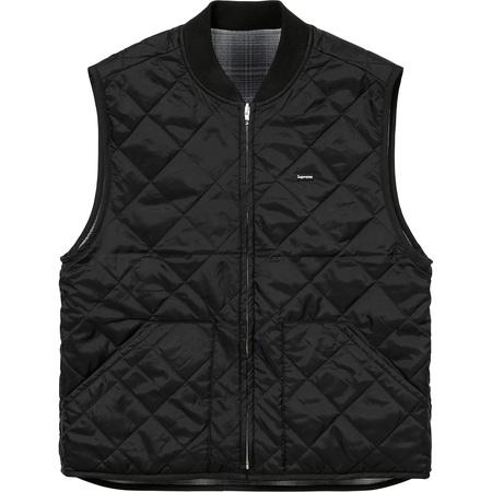 Reversible Shadow Plaid Vest (Black)