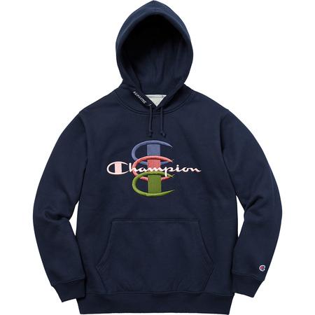 Supreme®/Champion® Stacked C Hooded Sweatshirt (Navy)
