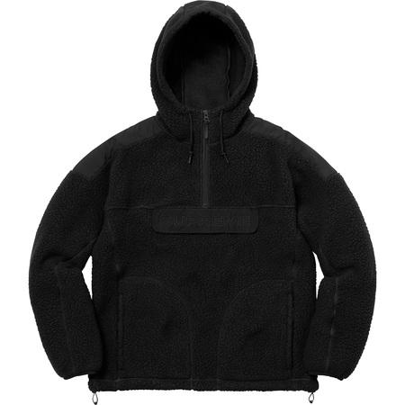 Polartec® Hooded Half Zip Pullover (Black)