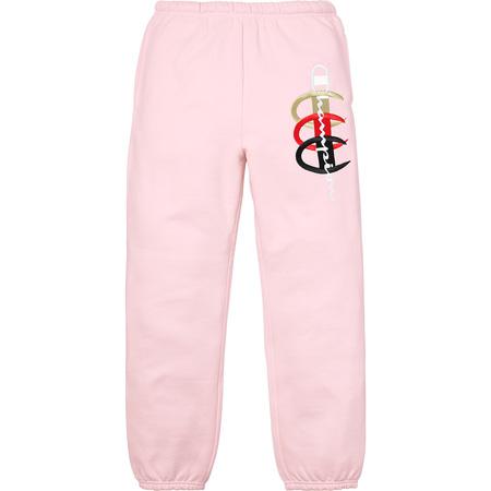 Supreme®/Champion® Stacked C Sweatpant (Light Pink)