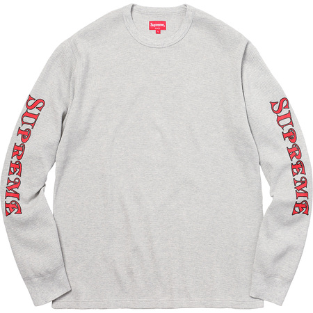 Sleeve Logo Waffle Thermal (Heather Grey)