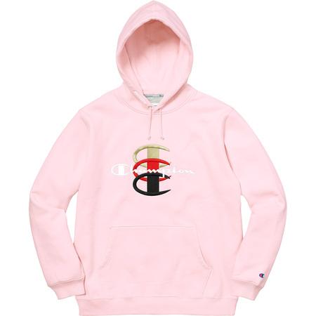 Supreme®/Champion® Stacked C Hooded Sweatshirt (Light Pink)