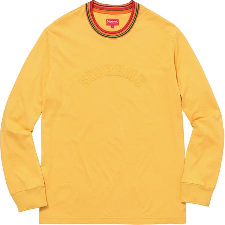 Multicolor Striped Rib L/S Top (Yellow)