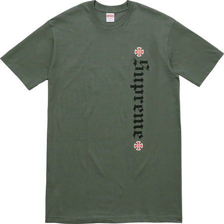Supreme®/Independent® Old English Tee (Olive Green)