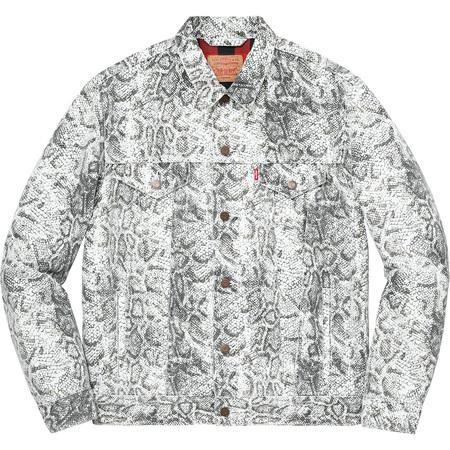 Supreme®/Levi's® Snakeskin Trucker Jacket (White)