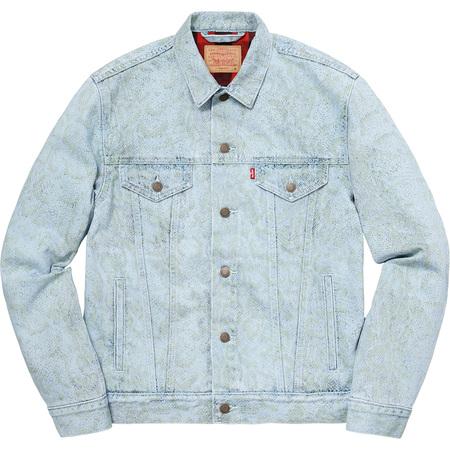 Supreme®/Levi's® Snakeskin Trucker Jacket (Light Blue)
