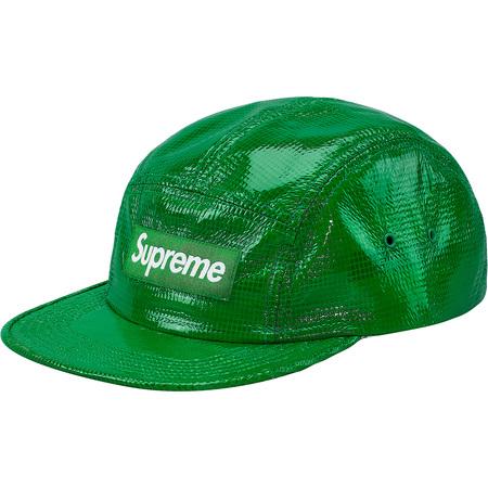 Laminated Box Weave Camp Cap (Green)
