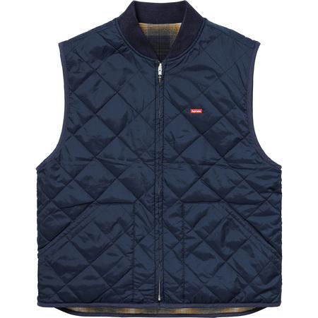 Reversible Shadow Plaid Vest (Navy)